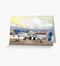 """Alden Rigby - Blue Nose Warrior"" Greeting Card"