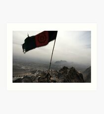 Above Afghanistan  Art Print