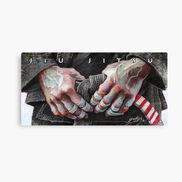 Jiu-Jitsu Taped Fingers Canvas Print