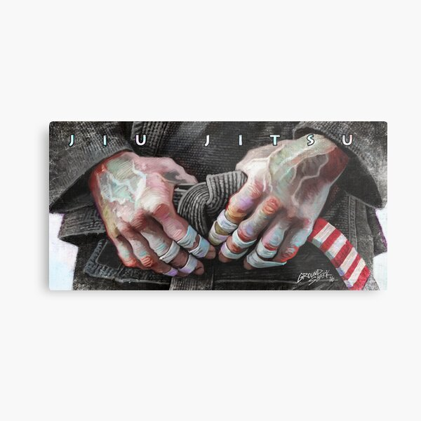 Jiu-Jitsu Taped Fingers Metal Print