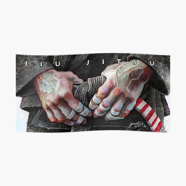 Jiu-Jitsu Taped Fingers Poster