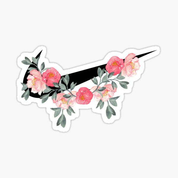 tiques et fleurs Sticker