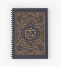 Cuaderno de espiral D20 dados Steampunk Mech