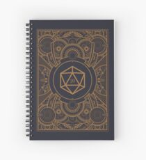 D20 Dice Steampunk Mech Spiral Notebook