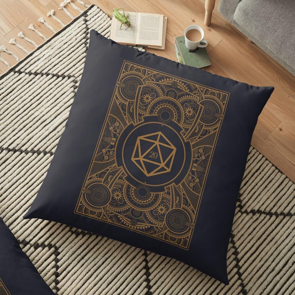 D20 Dice Steampunk Mech Floor Pillow