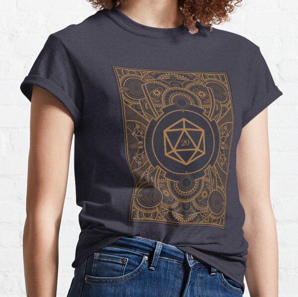 D20 Dice Steampunk Mech Classic T-Shirt