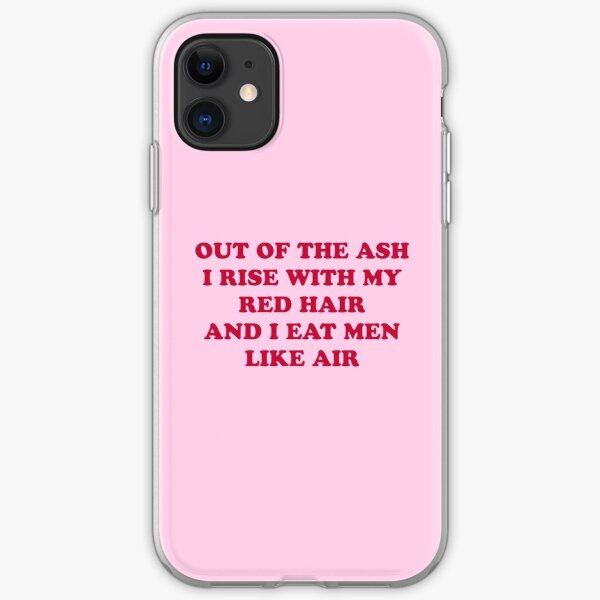 Sylvia Plath poetry quote iPhone Soft Case