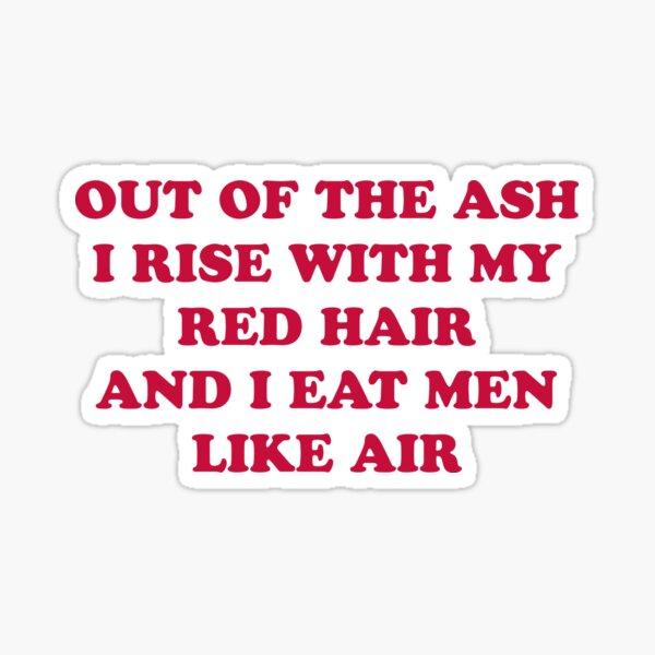 Sylvia Plath poetry quote Sticker