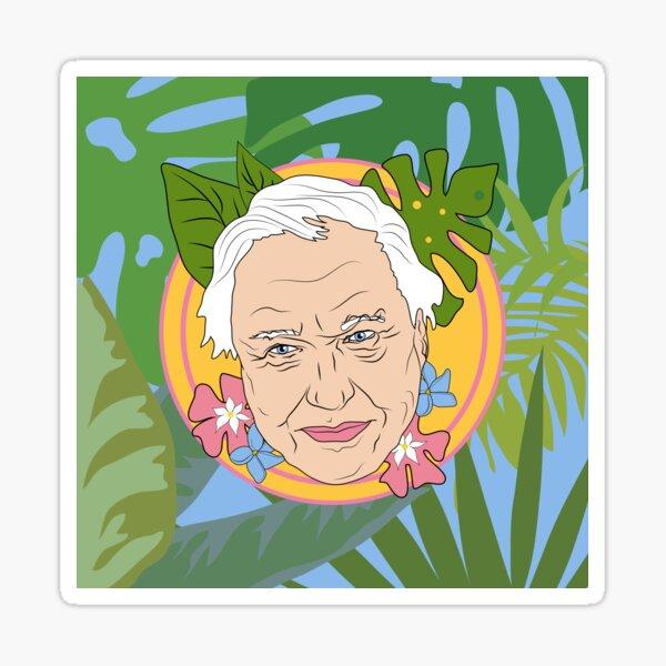 David Attenborough plant life design Sticker