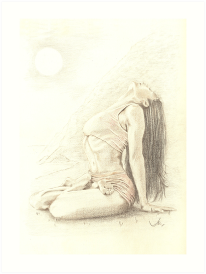 """At One"" Colour Pencil Artwork by John D Moulton"