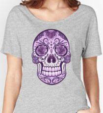 Floral Sugar Skull Totenkopf Totenschädel Day Of The Dead  Baggyfit T-Shirt