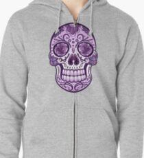 Floral Sugar Skull Totenkopf Totenschädel Day Of The Dead  Hoodie mit Reißverschluss