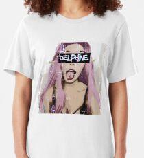 Belle Delphine - glitch Slim Fit T-Shirt