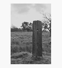 Ancient signpost at Longshaw Photographic Print