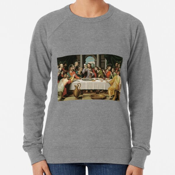 The Last Supper (Ultima Cena) by Joan de Joanes (c. 1562) Lightweight Sweatshirt