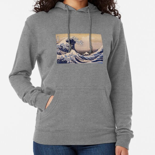 The Great Wave off Kanagawa by Katsushika Hokusai (c 1830-1833) Lightweight Hoodie
