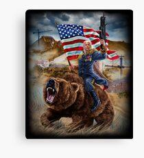 Lienzo El presidente republicano de Estados Unidos, Donald Trump, construye el muro épico