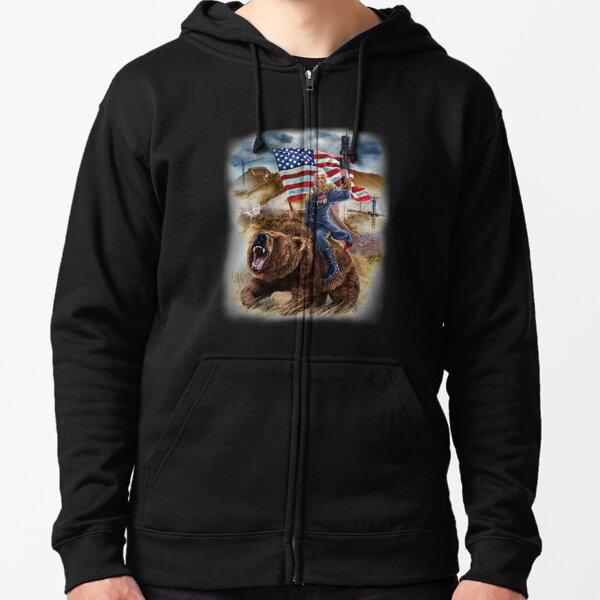 US Army Retired Mens Full-Zip Up Hoodie Jacket Pullover Sweatshirt