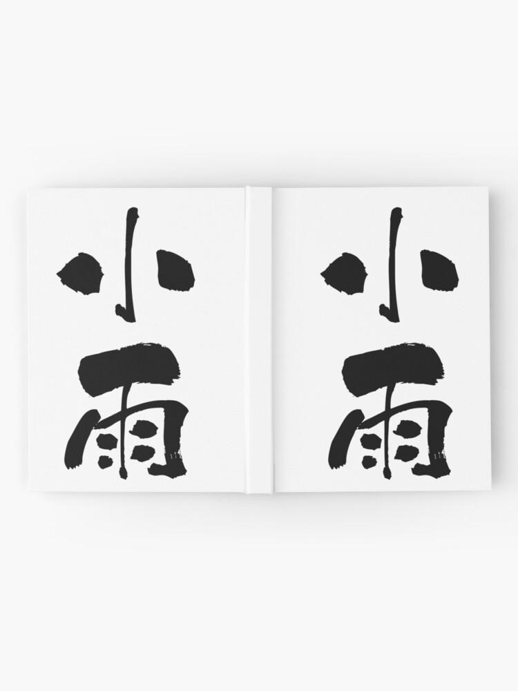"Alternative Ansicht von 小雨 (kosame) - ""drizzle"" (noun) — Japanese Shodo Calligraphy Notizbuch"