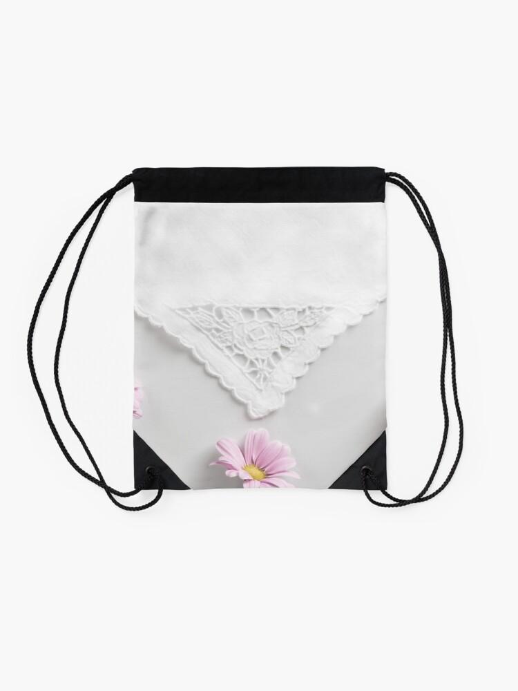 Alternate view of Spring flowers Drawstring Bag