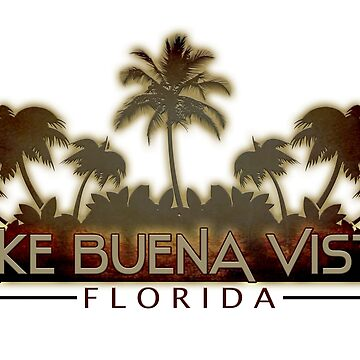 Lake Buena Vista Florida palm tree words by artisticattitud