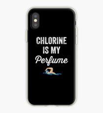 Vinilo o funda para iPhone El cloro es mi perfume - Divertido nadador
