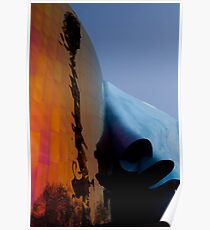 Seattle Washington space needle abstract Poster