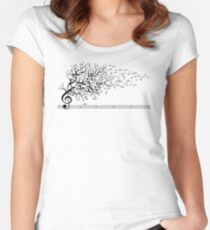 The Sound of Nature Women's Fitted Scoop T-Shirt