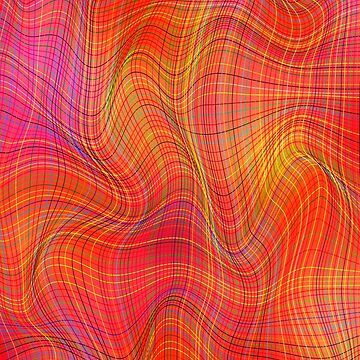 Abstract lines fabric by mikeranger