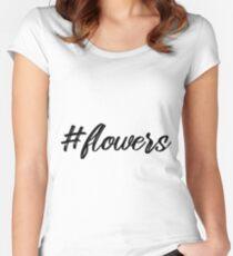 BLumen Hashtag Geschenk für Frauen Women's Fitted Scoop T-Shirt