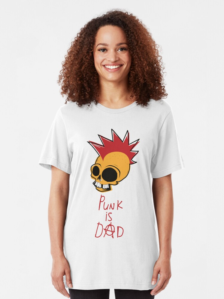 Alternate view of Punk is Dad Slim Fit T-Shirt