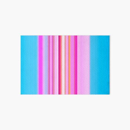 Stripes Blue and Pink Art Board Print
