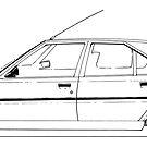 Citroen BX - black line by angylroper