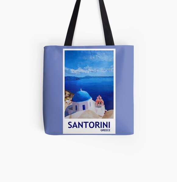 Santorini, Greece - View from Oia All Over Print Tote Bag