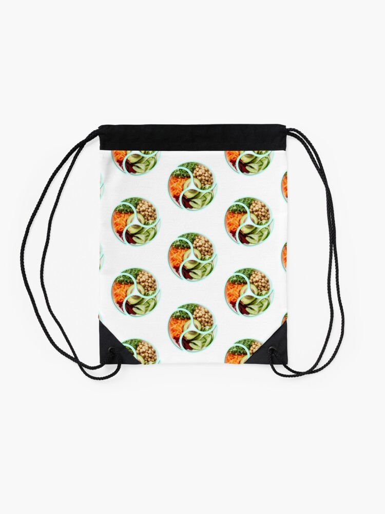 Alternate view of Vegan is life & life is Vegan Drawstring Bag