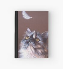 Cat & feather Hardcover Journal