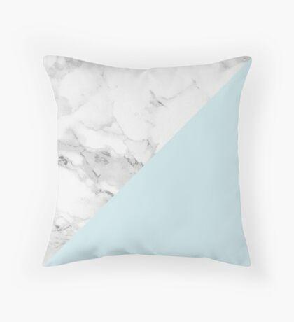 Marble + Blue Pastel Color. Geometría clásica. Cojín de suelo