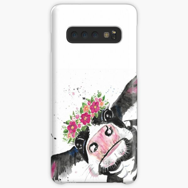Not Today Heifer, Cow with Flowers Samsung Galaxy Snap Case