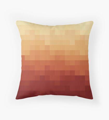 Gradient Red Fire Pixels Cojín de suelo