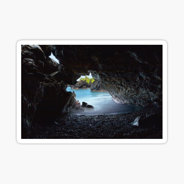 Peeking Through the Lava Tube Sticker