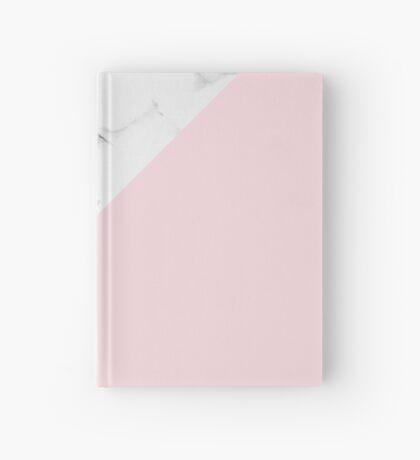 Marble + Pink Pastel Color. Geometría clásica. Cuaderno de tapa dura