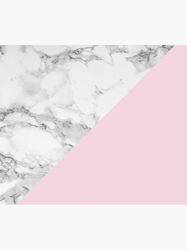 Marble + Pink Pastel Color. Classic Geometry. by colorandpattern