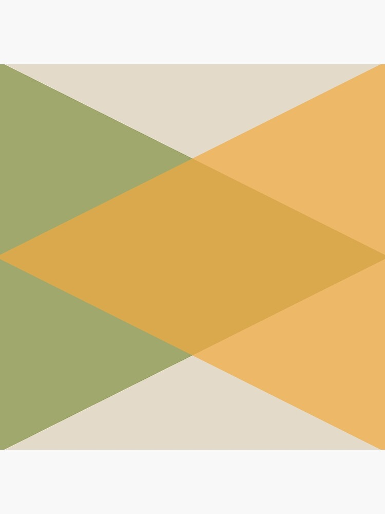 Mid Century - Yellow Green by colorandpattern