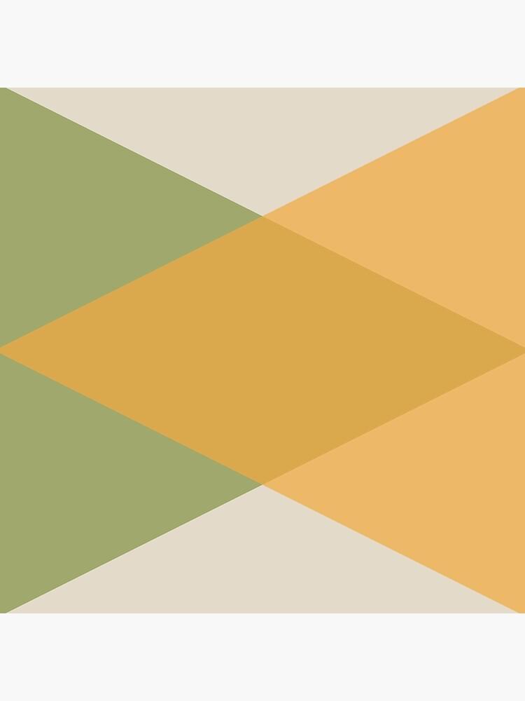Mitte des Jahrhunderts - Gelbgrün von colorandpattern