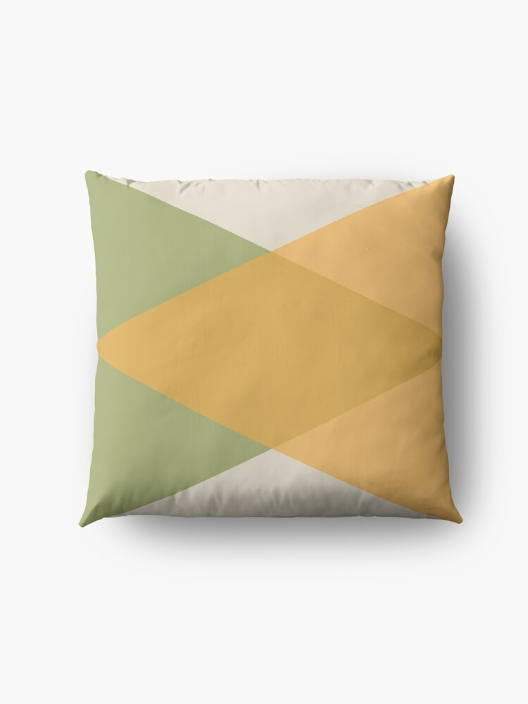 Alternate view of Mid Century - Yellow Green Floor Pillow