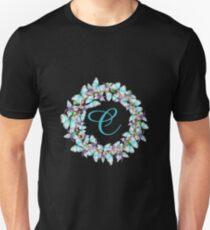 Letter C- butterfly, orchid, Alphabet, Monogram, Initial  Unisex T-Shirt