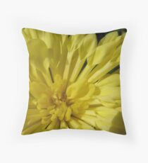 Tunnels of Yellow Flora Throw Pillow