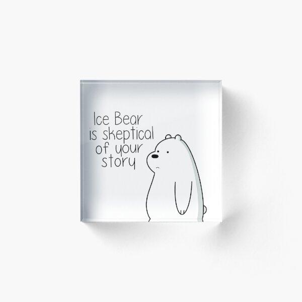 Ice Bear Acrylic Block