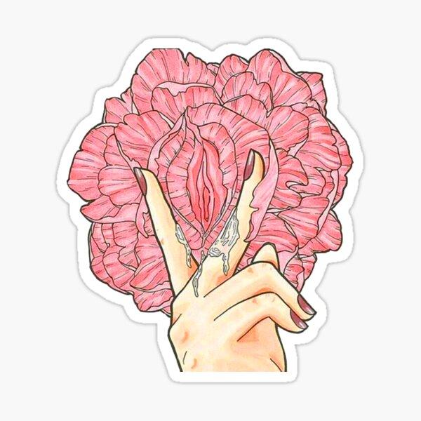 Flower licking Sticker
