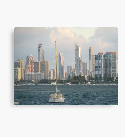 Broadwater  Gold  Coast misty day. Canvas Print